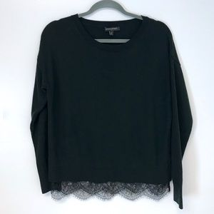 Banana Republic | scoop neck sweater with lace M
